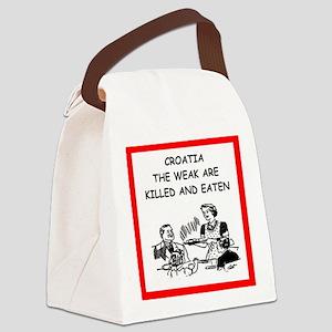 croatia Canvas Lunch Bag