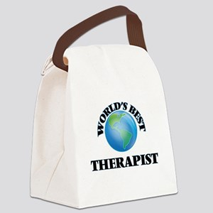 World's Best Therapist Canvas Lunch Bag
