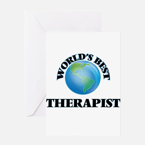 World's Best Therapist Greeting Cards