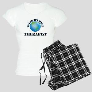 World's Best Therapist Women's Light Pajamas