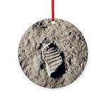 Apollo 11 Bootprint Space Christmas Tree Ornament