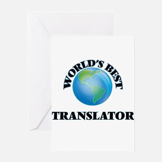 World's Best Translator Greeting Cards