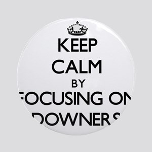 Keep Calm by focusing on Downers Ornament (Round)