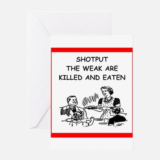 shotput Greeting Cards