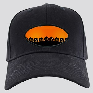 Spooky Halloween Pumpkins Black Cap with Patch