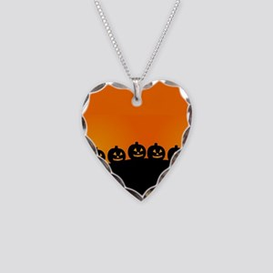 Pumpkins! Necklace Heart Charm