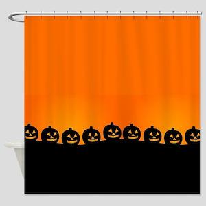Spooky Halloween Pumpkins Shower Curtain