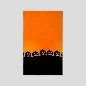 Spooky Halloween Pumpkins Area Rug