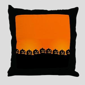 Spooky Halloween Pumpkins Throw Pillow