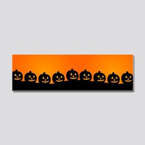 Spooky Halloween Pumpkins Car Magnet 10 x 3