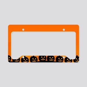 Spooky Halloween Pumpkins License Plate Holder