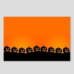 Spooky Halloween Pumpkins Postcards (Package of 8)