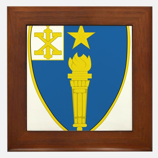 1st Battalion 46th Infantry Regiment.p Framed Tile