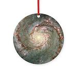 M51 Whirpool Galaxy Astronomy Christmas Ornament