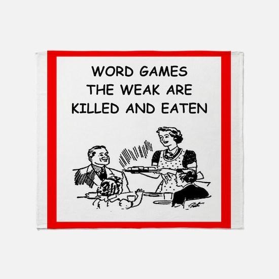 word games Throw Blanket