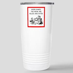 word games Travel Mug