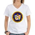 USS ALEXANDRIA Women's V-Neck T-Shirt