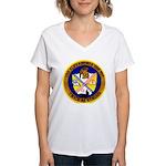 USS ALEXANDRIA Women's V-Neck T-Shirt
