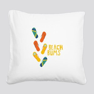 Beach Bums Square Canvas Pillow