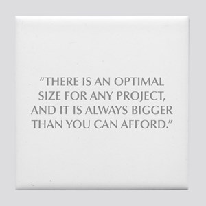 THERE IS AN OPTIMAL SIZE FOR ANY PROJECT AND IT IS