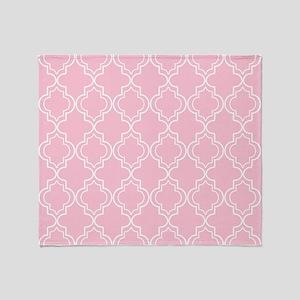 Moroccan TnT 5x7 W lt pink Throw Blanket