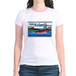 USS ASHEVILLE Jr. Ringer T-Shirt