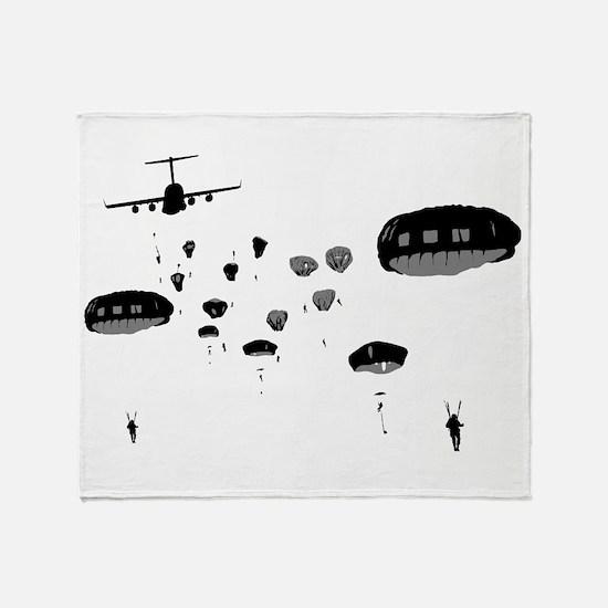 Parachuting Throw Blanket