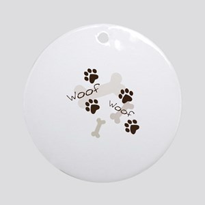Woof Woof Ornament (Round)