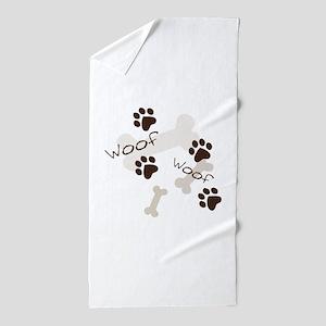 Woof Woof Beach Towel