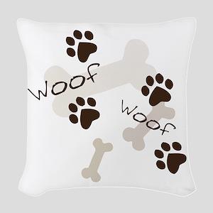 Woof Woof Woven Throw Pillow