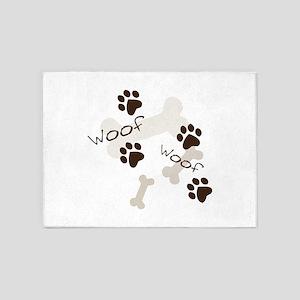 Woof Woof 5'x7'Area Rug