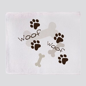 Woof Woof Throw Blanket