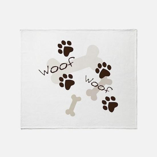Woof Woof Throw Blanket