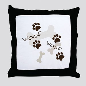 Woof Woof Throw Pillow