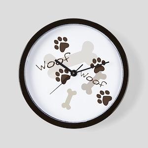 Woof Woof Wall Clock