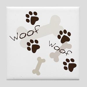 Woof Woof Tile Coaster
