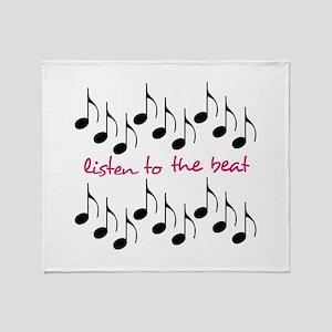 Listen To The Beat Throw Blanket