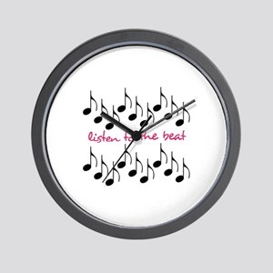Listen To The Beat Wall Clock