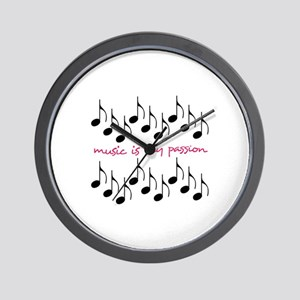 Music Is My Passion Wall Clock