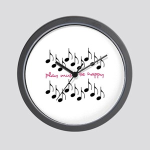 Play Music Be Happy Wall Clock