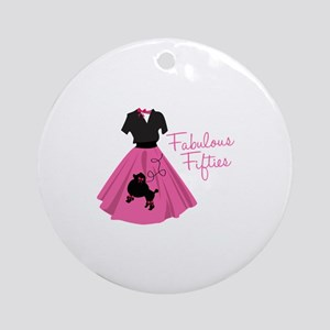 Fabulous Fifties Ornament (Round)