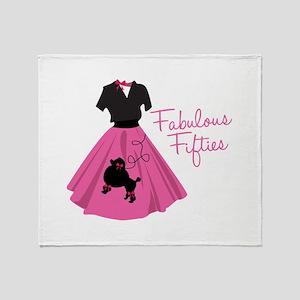 Fabulous Fifties Throw Blanket