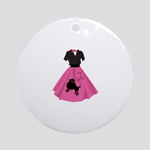 Poodle Skirt Ornament (Round)