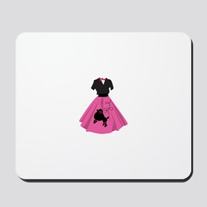 Poodle Skirt Mousepad