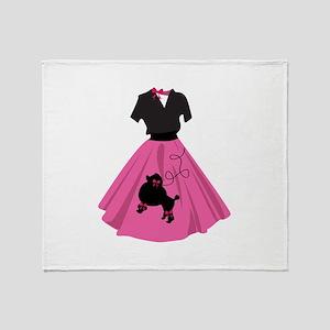 Poodle Skirt Throw Blanket