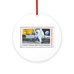 Apollo 11 Space Christmas Tree Ornament (Round)