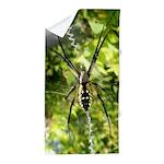 Garden Spider Awaits sq Beach Towel