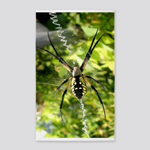 Garden Spider Awaits sq 3'x5' Area Rug