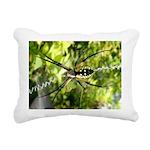 Garden Spider Awaits sq Rectangular Canvas Pillow