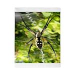 Garden Spider Awaits sq Twin Duvet